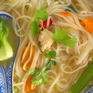 A Light and Nurturing Gluten-Free Thai Chicken Noodle Soup