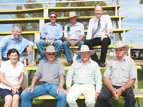 Organisers and supporters AT A MEETING IN APRIL THIS YEAR AT THE NARRABRI SHOWGROUND: Back, Narrabri Mayor Cr Conrad Bolton, Ross Clarke (Barradine), Maurice O'Neil (Kempsey), and Ken Flower (North West Local Land Services, Narrabri), front, Chris Clarke (Barradine), Max Batterham (Kempsey), Phillip Kirkby (Narrabri) and Graham Clarke (Kempsey).