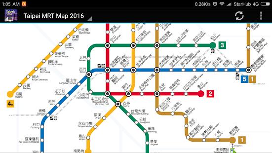 Subway Map Taipei