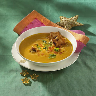 Lentil Soup with Fruity Croutons