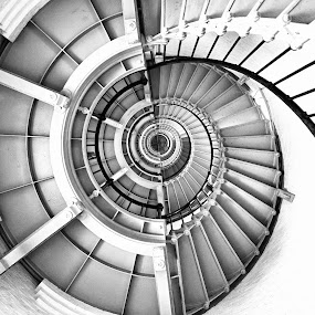 288 Steps by George Bloise - Buildings & Architecture Architectural Detail ( abstract, black and white, lighthouse, circle, architecture )