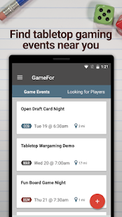 GameFor - Find Local Game Events and Players - náhled