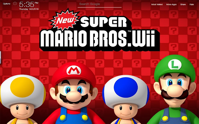 Super Mario Bros Game Wallpapers New Tab