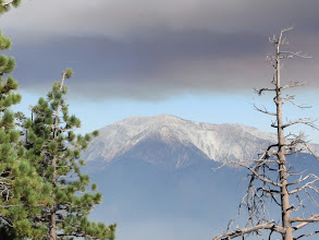 Photo: View west toward Mt. Baldy framed by Williams Fire smoke