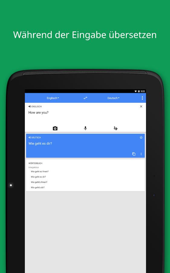 GoogleÜbersetzer – Screenshot