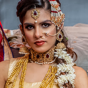 the Pakistani Bride  by Murray howard-Brooks - People Portraits of Women