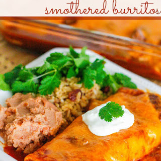 Slow Cooker Chile Colorado Smothered Burritos.