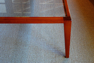 Photo: Light Raulí Table at Montes House