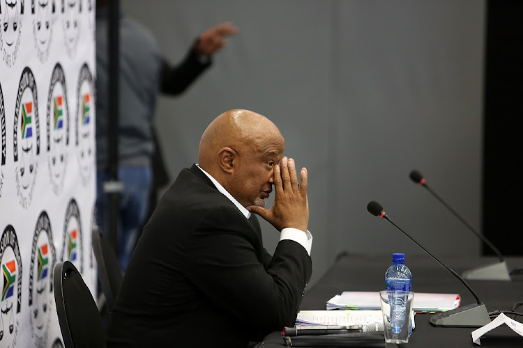 Mcebisi Jonas faces tough questions to determine whether there is any truth to the claim that the Gupta family wanted to bribe him to accept an offer to become finance minister, at the Zondo commission of inquiry investigating state capture on August 24 2018. Picture: ALON SKUY