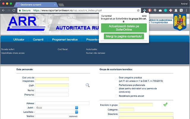 SoferOnline - importare date ARR