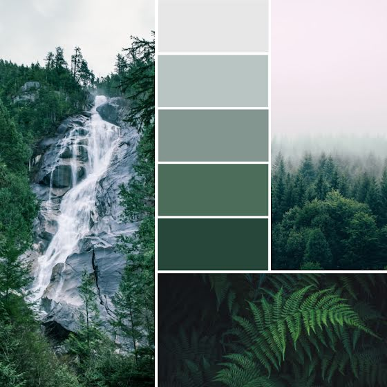 Waterfall Palette - Instagram Post Template