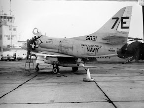 Photo: Ops Line '69 with appropriated A4 from reserve squadron