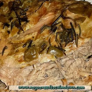 Crock Pot Honey Garlic Pork Roast with Pears.