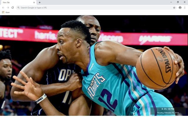 Charlotte Bobcats NBA New Tab Theme