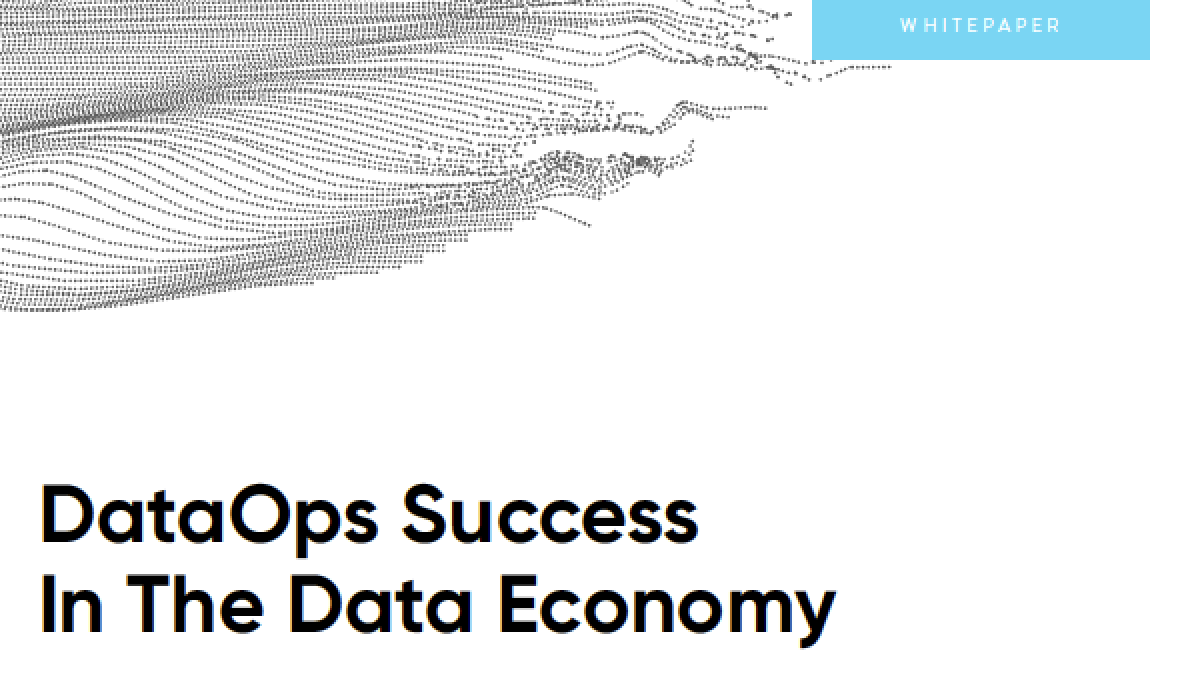 The Role of DataOps in Innovation DataOps Success in the Data Economy