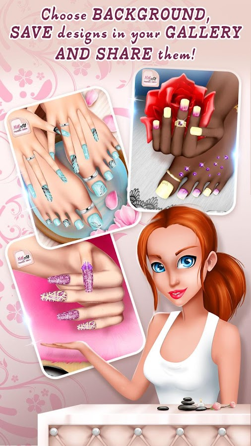 Nail art fashion salon manicure and pedicure game for A nail salon game