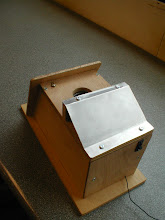 Photo: Radio controlled sparrow capture box for Sheffield Uni Lundy project.