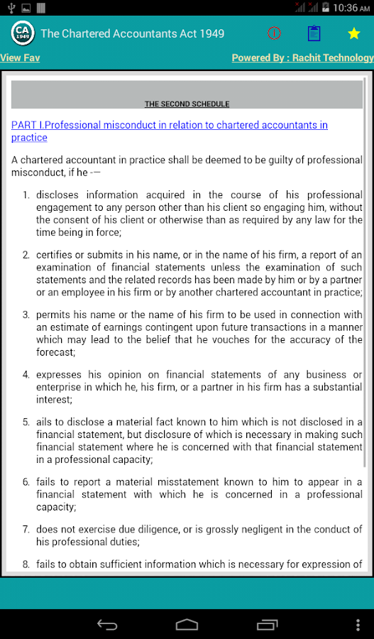 The Chartered Accountants Act Android Apps On Google Play