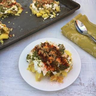 Cheesy Pesto Potato Bites