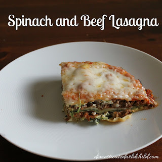 Spinach and Beef Lasagna.