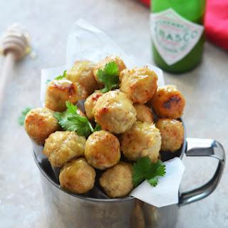 Jalapeno-Honey Glazed Cheesy Chicken Poppers