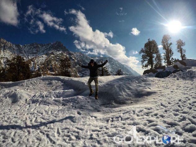 Trek to Snowline- A Trek Above The Triund -16 degree Winter