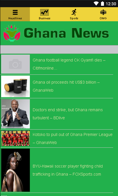 Ghana News- screenshot