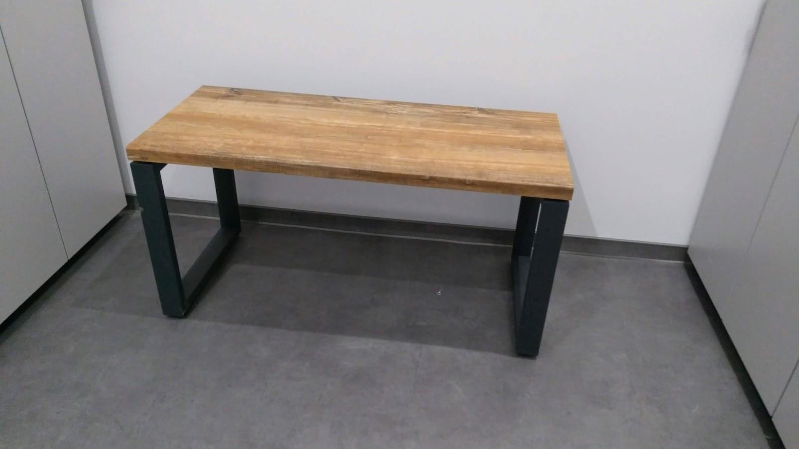 Лавочка с hpl-поверхностью - Модульная офисная мебель, Металлические каркасы столов, Мебельные опоры ✆ 0679245444