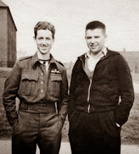 Photo: Donald visited Billy Lane at his Spitfire squadron base.