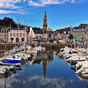 Binic by Dobrin Anca - City,  Street & Park  Vistas ( port, beautiful, sea, brittany, sun,  )