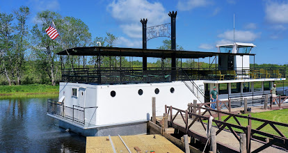 Photo: The riverboat Hiawatha, which we will board for a 21 mile cruise down the river to the rapids 1/2 mile above the Upper Tahquamenon Falls.