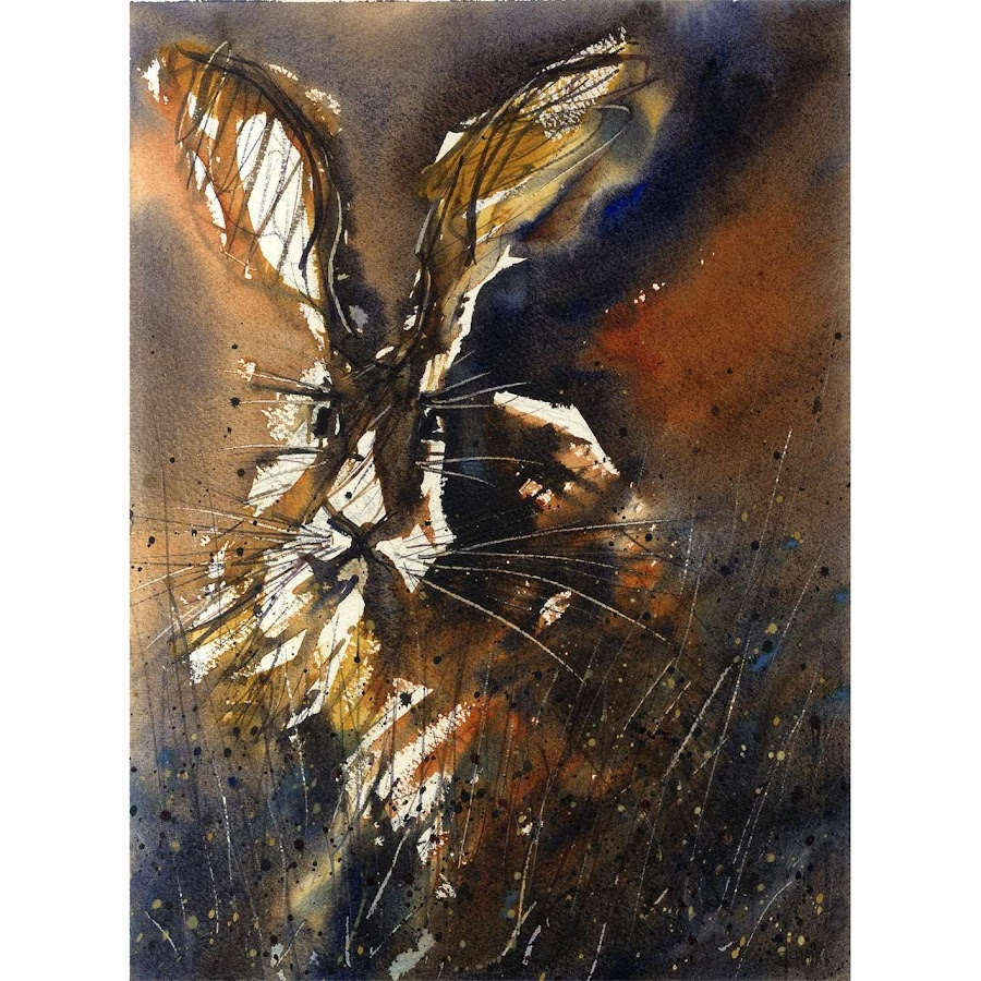 Hare painting art watercolour