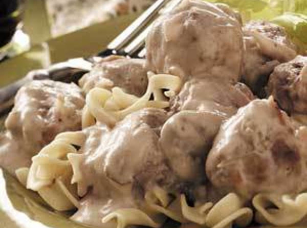 Creamy Meatballs And Buttered Noodles Recipe