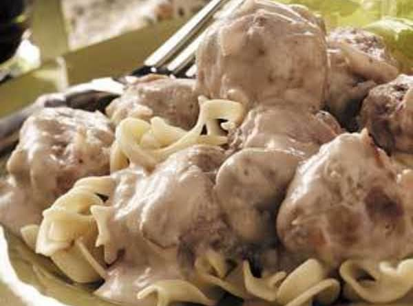Creamy Meatballs And Buttered Noodles