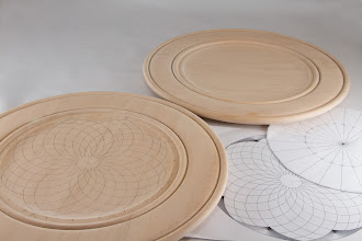"Photo: Bill Autry 13"" x 1"" platter [basswood] {one used for Mary May demo}"