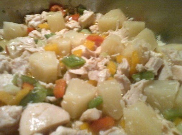 In large skillet, melt butter.  Add in minced shallot and diced peppers; cook...