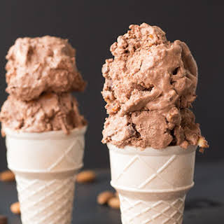 Vegan Heavenly Hash Ice Cream.