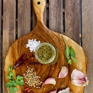 Homemade Green Harissa Sauce