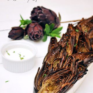 Tequila Lime Roasted Artichokes