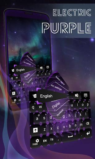 電気紫色のキーボード