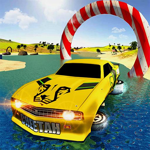 Floating Car Racing Water Surfing Games