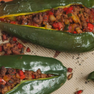 Taco Stuffed Poblano Peppers