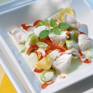 Asiatische Fischpfanne mit Kokosmilch