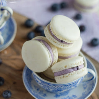 Blueberry Mascarpone Macarons.
