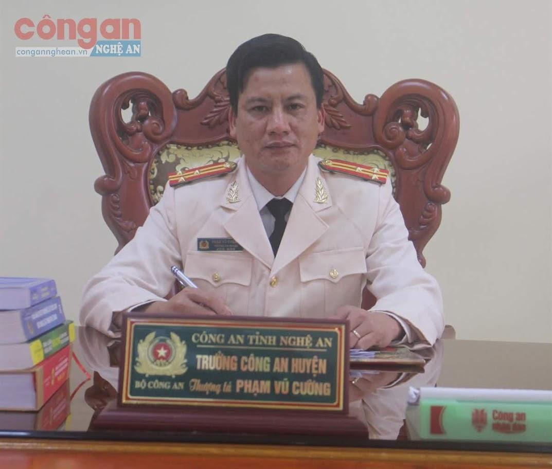 Thượng tá Phạm Vũ Cường, Bí thư Đảng ủy, Trưởng  Công an huyện Tân Kỳ