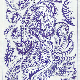 PEN IN PAPER by Surjodoy Bose - Illustration Abstract & Patterns