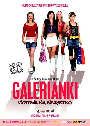 Przód ulotki filmu 'Galerianki'