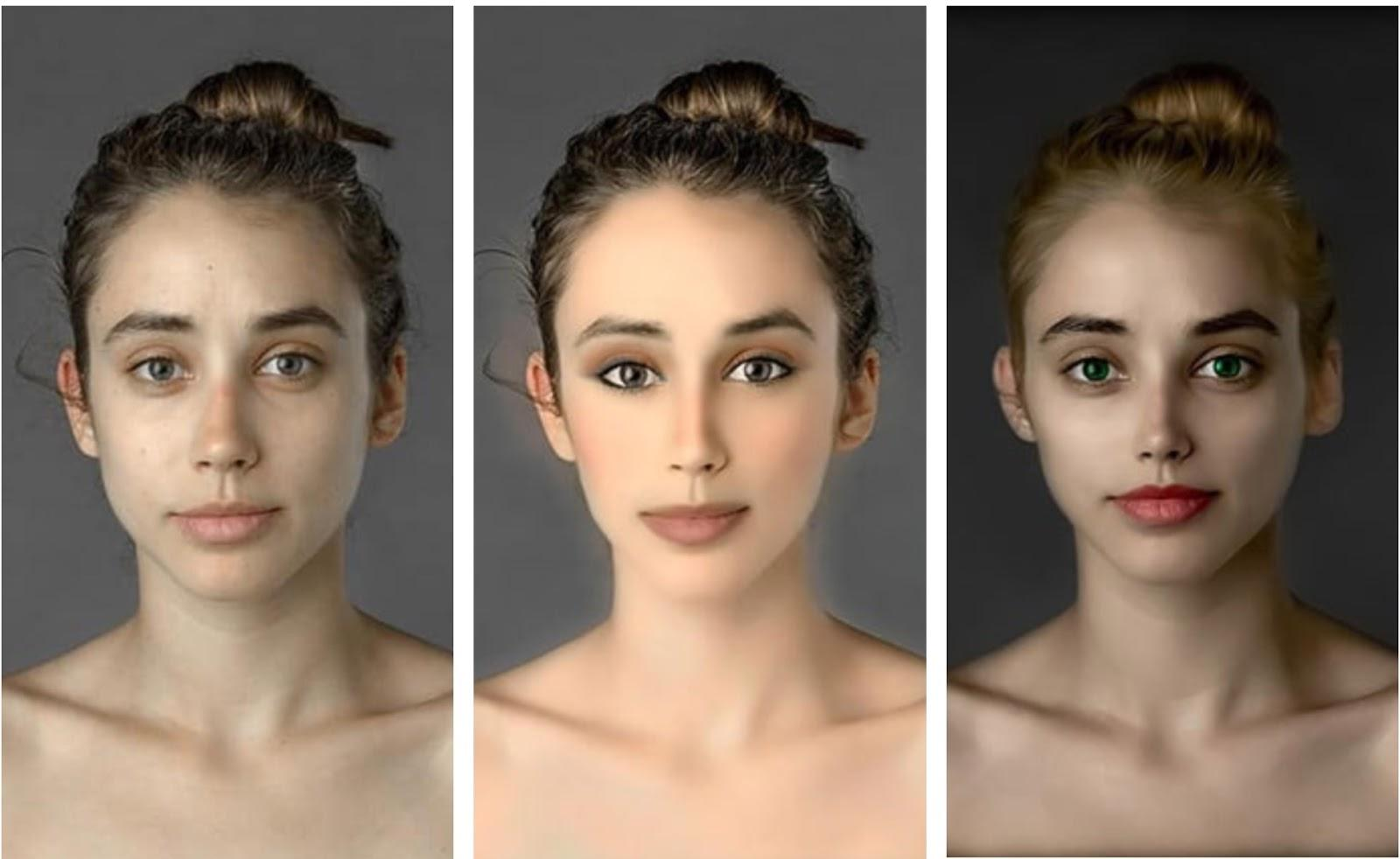 photo retouching examples for digital face modification