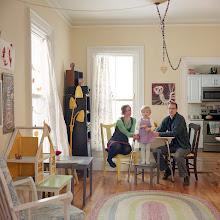 Photo: title: Christina Bechstein, Pete Nenortas + Melu Bechstein Nenortas, Portland, Maine date: 2016 relationship: friends, art, met through art world Portland years known: 10-15