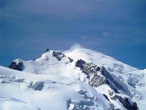Photo: Nuestra ruta y objetivo desde la Aguille du Midi. Foto Ah.